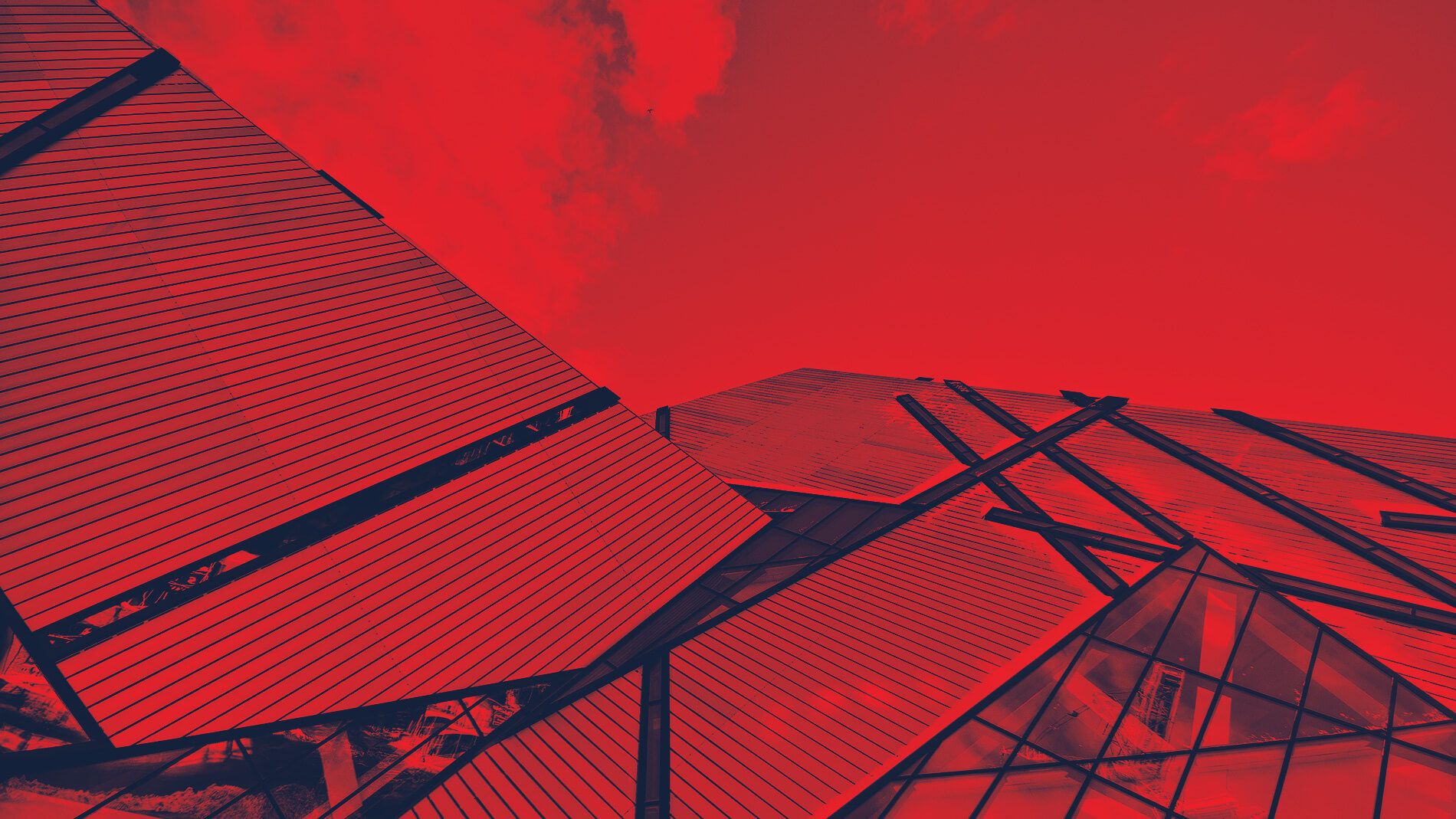 Abstract image of building facade in black and red.